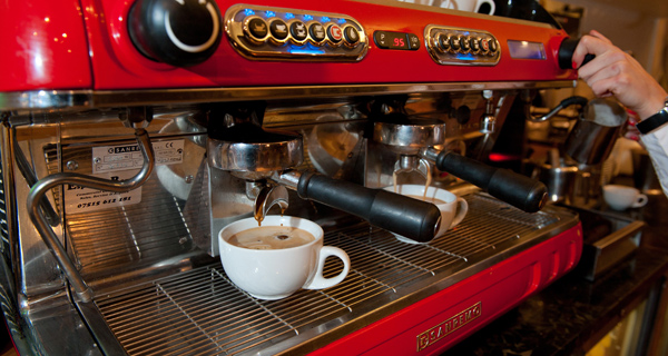 Our San Remo coffee machine - we love our coffee!