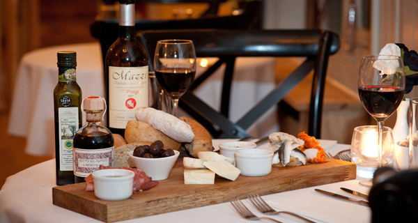 Sharing platters and beautiful wine selection
